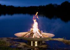 "Fire Pit Art Bella Vita 35"" Stainless Steel"