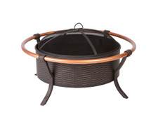 Fire Sense Well Traveled Living Copper Rail Fire Pit