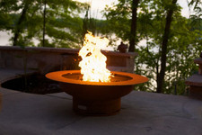 "Fire Pit Art Saturn 40"" Natural Gas or Propane Fire Pit"