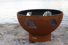 "Fire Pit Art Beachcomber 36"" Natural Gas or Propane Fire Pit 1"