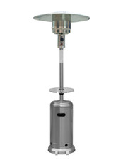 """TFPS Patio Heaters 87'"""" Stainless Steel Patio Heater with Table - TFPS-HLDS01-BST"""