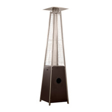 "TFPS Patio Heaters 91"" Tall Commercial Triangle Glass Tube Heater - Hammered Bronze Patio Heater - TFPS-HLDS01-GTHG"