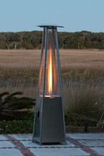 Fire Sense Well Traveled Living Stainless Steel Pyramid Flame Heater