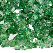 1/4 inch Evergreen Reflecting Premium Fire Glass