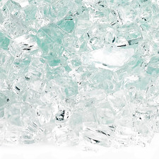 1/4 inch Clear Classic Fire Glass