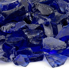 1/2 inch to 1 inch Dark Blue Economy Fire Glass