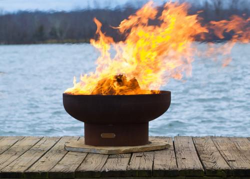 "Fire Pit Art 36"" Low Boy - Low Minimalist Retro Fire Pit"
