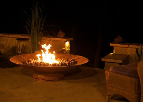 """Fire Pit Art Asia 72"""" Natural Gas or Propane Fire Pit"""