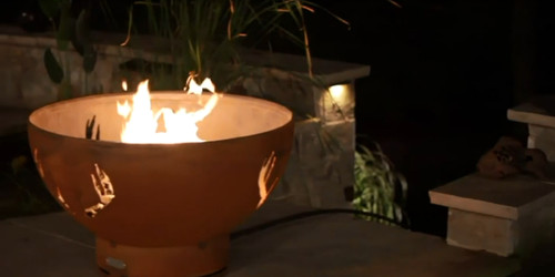 """Fire Pit Art Antlers 36"""" Natural Gas or Propane Fire Pit 2"""