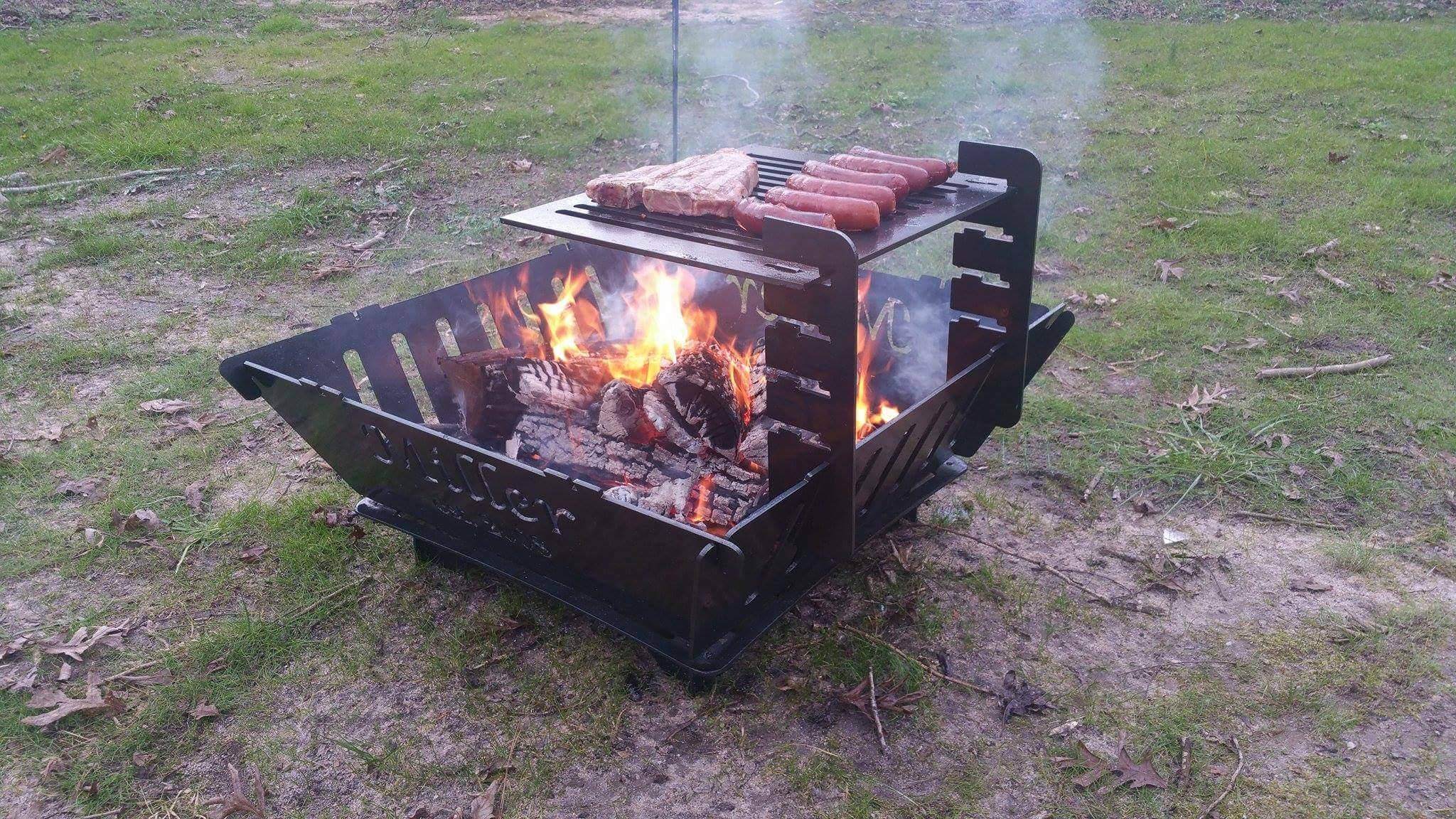 cooking over a wood fire pit the fire pit store