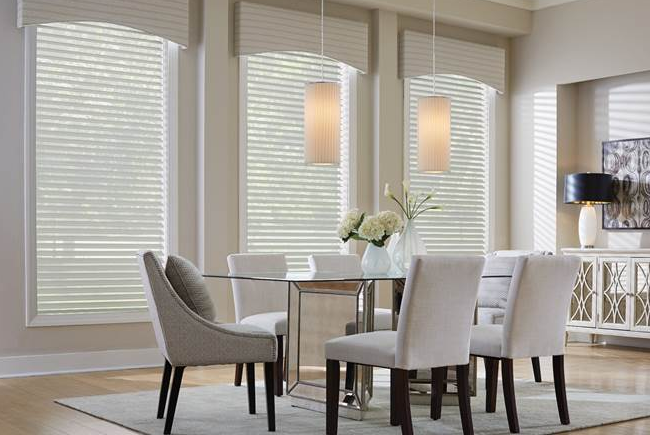 Graber Sheer Shadings with Curved Cornices