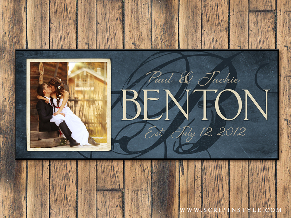 Personalized Family Name Plaque with Photo