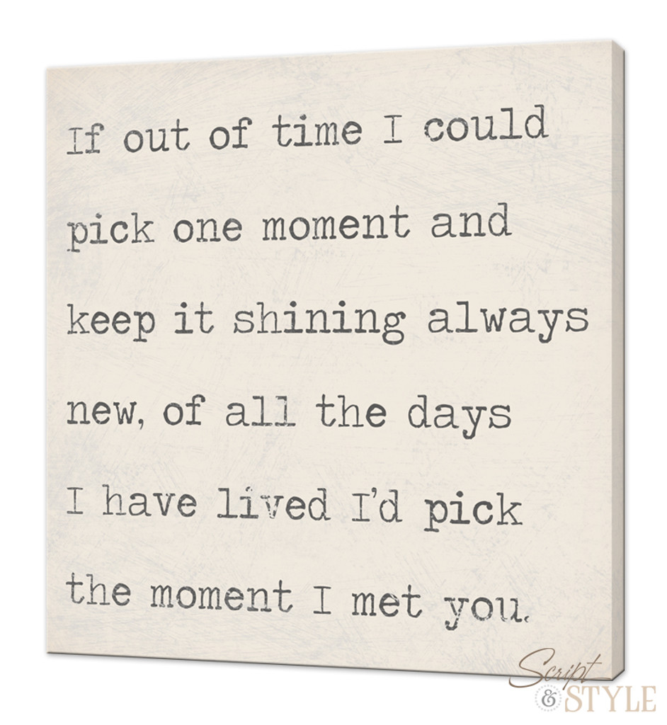 Canvas wall art with quote