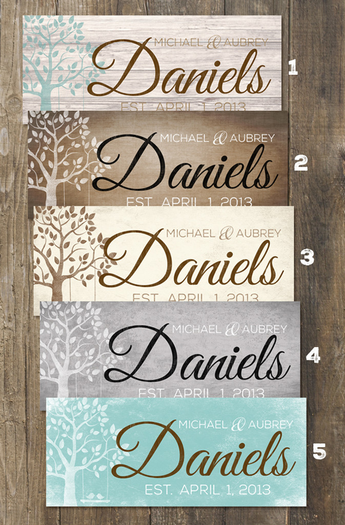 Personalized wooden signs