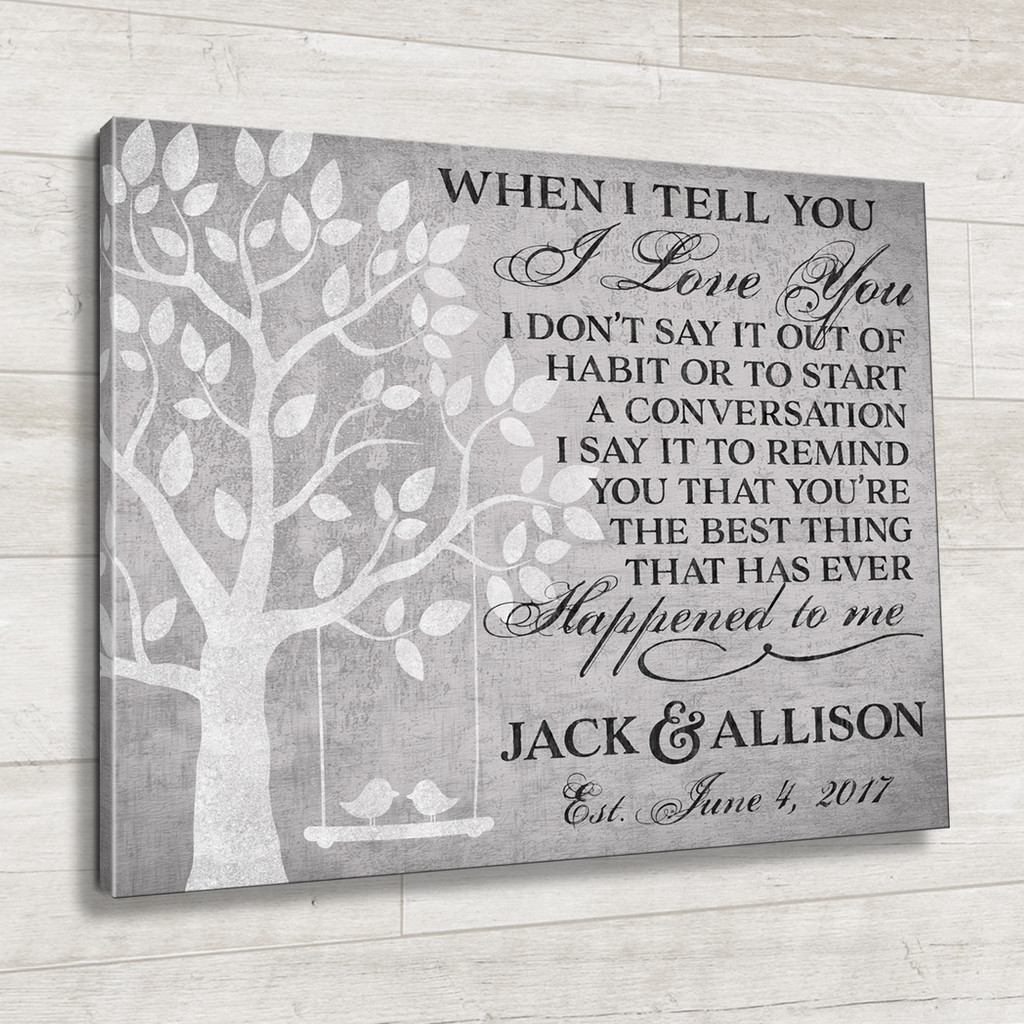 Personalized quote on canvas