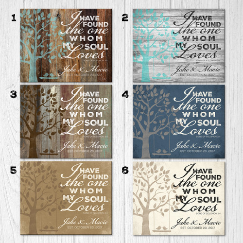 song of solomon 3 4 wood sign