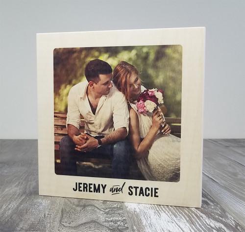 Photo printed on wood