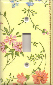 Country Flowers - Yellow - Single Switch