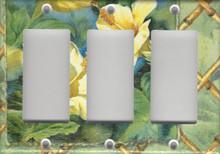 Yellow Hibiscus Flower - Triple GFI/Rocker