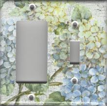 Hydrangea Branch - Double Combo GFI/Rocker & Switch