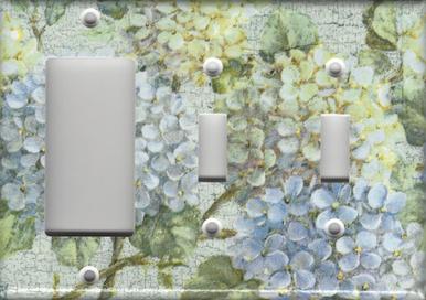Hydrangea Branch - Triple Combo GFI/Rocker & Switch & Switch