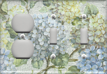 Hydrangea Branch - Triple Combo Outlet & Switch & Switch