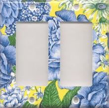 Blue & Yellow Flowers - Double GFI/Rocker