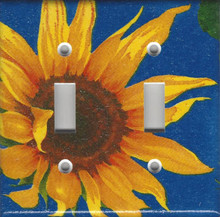 Blue Sunflower Double Switch