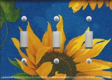 Blue Sunflower Triple Switch