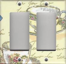 Tea for Two Double GFI/Rocker