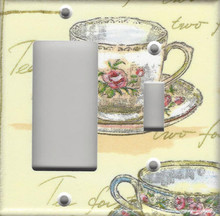 Tea for Two Double Combo GFI/Rocker & Switch
