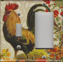 Fall Rooster Double Combo Switch & GFI/Rocker