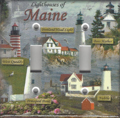 Lighthouses of Maine Double Switch