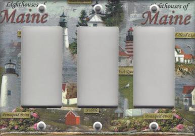 Lighthouses of Maine Triple GFI/Rocker
