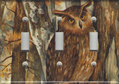 Forest Owl Triple Switch