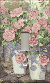 Roses in Blue Pails - Single Switch