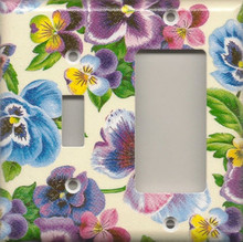 Lots of Pansies - Double Combo Switch & GFI