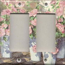 Roses in Blue Pails - Double GFI/Rocker