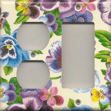 Lots of Pansies - Double Combo Outlet & GFI