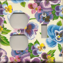 Lots of Pansies - Double Combo Outlet & Switch