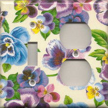 Lots of Pansies - Double Combo Switch & Outlet