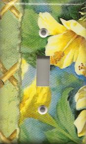 Yellow Hibiscus Flowers - Single Switch