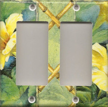 Yellow Hibiscus Flowers - Double GFI/Rocker