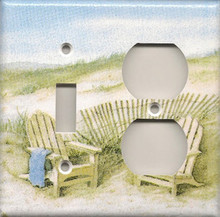 Adirondack Chairs on Dunes - Double Combo Switch & Outlet