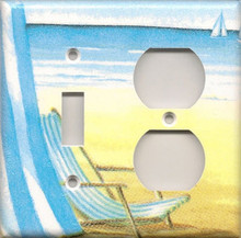 Beach Chair - Double Combo Switch & Outlet