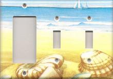 Blue and Yellow Shells - Triple Combo GFI & Switch & Switch