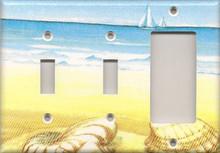 Blue and Yellow Shells - Triple Combo Switch & Switch & GFI