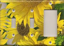 Sunflowers - Triple Combo Switch & Switch & GFI