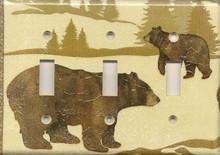 Bear & Bear Cub - Triple Switch