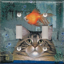 Cat with Fish Bowl - Double Switch